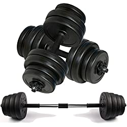 Dumbbell set for home gym, bodybuilding, crossfit, strength and fitness (15 - 50kg) (40 kg)