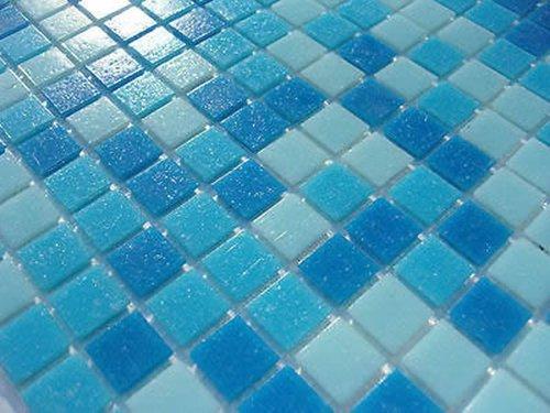 fliesentopshop 1qm glas mosaik fliesen pool dusche bad azur blau hellblau dunkelblau sauna mix. Black Bedroom Furniture Sets. Home Design Ideas