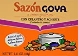 Sazon Goya Con Culantro y Achiote 1.41oz (Pack of 3)