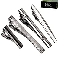BMC 4pc Metal Alloy Mens Luxury Fashion Necktie Clips Bar Mix Variety Set