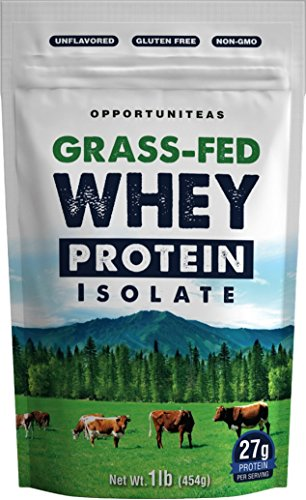 Grass Fed Whey Protein Powder Isolate | Natural, Unflavored, Easy to Mix | Non GMO