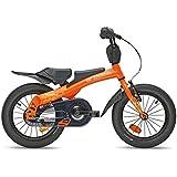 SCOOL-Rennrad-14-Kinderfahrrad-und-Laufrad-in-Einem-orange