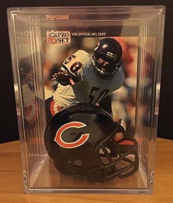 Chicago Bears NFL Helmet Shadowbox w/ Mike Singletary card