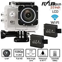 Flylinktech Full HD 2 Inch LCD Sports Action Camera DVR 30M Waterproof 720P 1080P