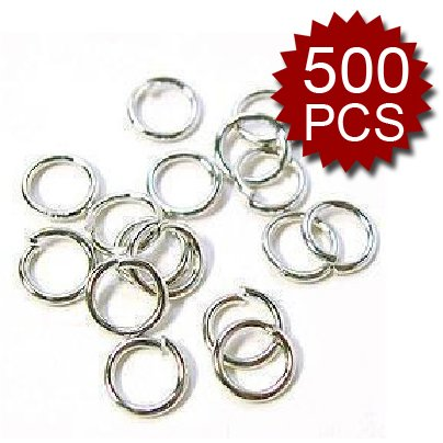 Aspire 7Mm Open Jump Rings Silver Plated Wholesales (Price/500Pcs)