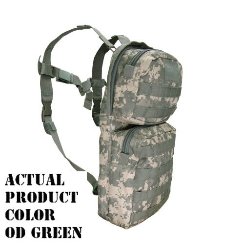 Molle Hydration Backpack Pack  Bladder-OD Green