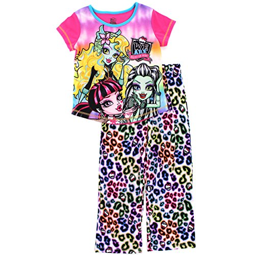 Monster High Girls Pink Poly Pajamas