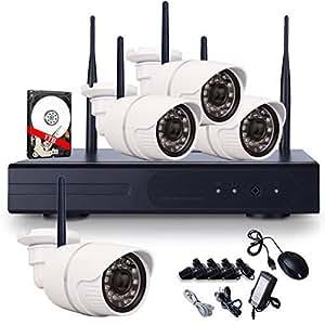 ANRAN 4CH Network NVR Wifi Kit Megapixel