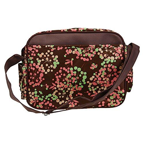 Baby Changing Mat Diaper Nappy Bag Mummy Shoulder Handbag Coffee front-365710