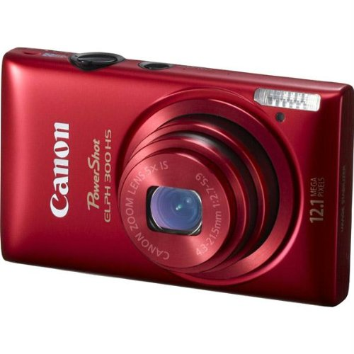 New Canon Red Powershot Elph 300 Hs 12.1mp Digital Camera 5x Optical Zoom 2.7inch Lcd