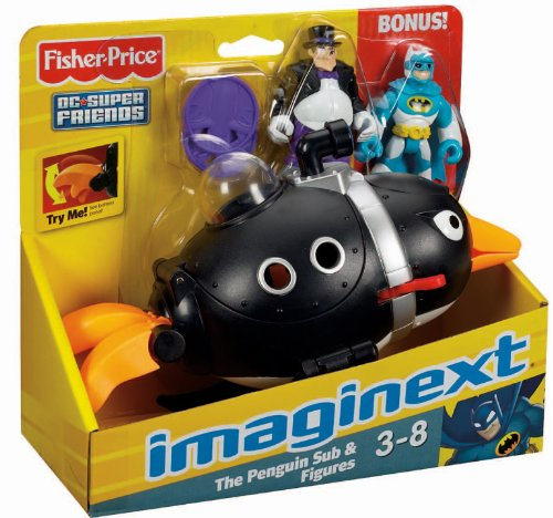 Fisher-Price Imaginext Super Friends Penguin and Batman - 1