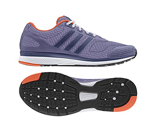 Adidas Performance Women's Mana Bounce Running Shoe,Raw Purple/Glow Purple/Orange,10 M US