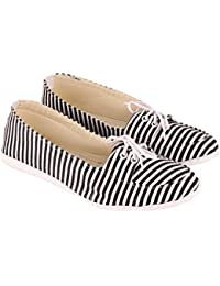 Vinayak Collection Women's Black & White Casual Shoes