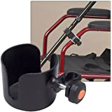 Cup & Cane Holders Clip On Accessory For Wheelchair Walker Rollator No Tools
