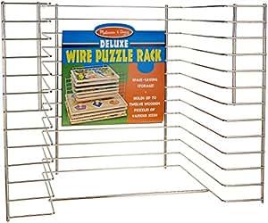 Melissa & Doug Deluxe Wire Puzzle Rack