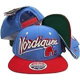 Quebec Nordiques Blue/Red Shadow Script Two Tone Plastic Snapback Adjustable Plastic Snap Back Hat / Cap