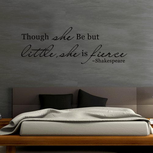 vinyl-inspirational-wall-decal-shakespeare-saying-quote-though-she-be-but-little-she-is-fierce-motiv