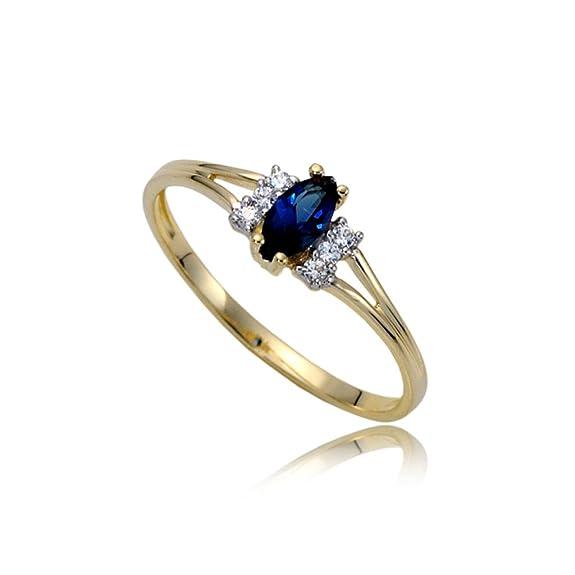 Stunning sapphire and zirconia engagement ring