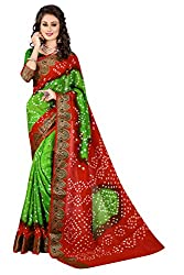 Nirja Trendy Green and fenta Color Stylish Designer Saree