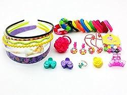 30 Pcs Hair Accessories Fashion clips Hair band Head band Clutches hair pin hair rubber gift for girl