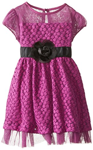 Us Angels Little Girls' Daisy Lace, Violet, 6X front-933241