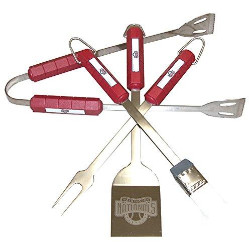 Siskiyou Sports Mlb Washington Nationals Team Logo 4 Pc BBQ Tool Set