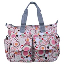 Ecosusi Polka Dot Deluxe Designer Diaper Tote Bag (Pink) by Ecosusi (English Manual)