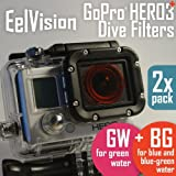 EelVision Dive Filters for GoPro HERO4 HERO3/3+ (2 pack: Red + Magenta) / Dive Scuba Diving Underwater Color Correction