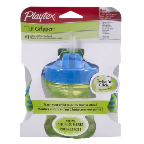Playtex Baby First Lil' Gripper Twist 'n Click Straw Trainer Cup - 1