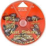 South Bend Bass Casting Sinker Assortment (Silver/Assorted)