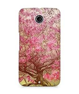 Amez designer printed 3d premium high quality back case cover for Motorola Nexus 6 (Flower spring art illust happy)