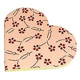 R S Jewels Paper Handmade Heart Shape Flora Designs Diary Pack Of 2 - B00Q1LIRTI