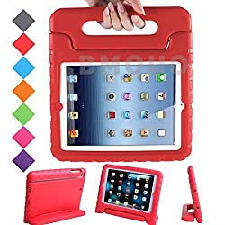 BMOUO iPad Mini 3 / Mini 2 / Mini 1 Kids Case - Shockproof Case Light Weight Kids Case Super Protection Convertible Handle Stand Cover Case for Kids Children For Apple iPad Mini / iPad Mini 3 / iPad Mini with Retina Display Tablet - Red Color