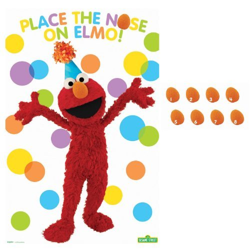 Amscan - Sesame Street Elmo Party - Party Game - Multi-colored