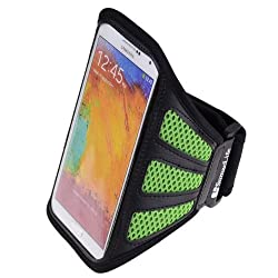 SumacLife Mesh Workout Armband for Sony Xperia Z1 / Z1S / T2 Ultra Android Smartphone (Green)