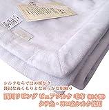 西川リビング ピュアシルク 毛布(日本製)タテ糸・ヨコ糸シルク使用 ブルー色