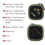 Masione™ MS-319A Outdoor Sport NFC Waterproof Shockproof Dust-proof Portable Bluetooth 4.0 Speaker 10 Watt 2000 mAh Li-ion battery Deep Bass Booster Built In Mic Up to 12 Hours Playtime for Iphone iPod Samsung Galaxy Nexus iPad HTC Blackberry Macbook Androids Smartphones Tablet Pandora APP (Army Green)
