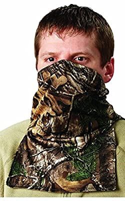 Hunters Specialties Scent-A-Way Silver Realtree Xtra Heavyweight Spandex Neck Gaiter/Half Mask