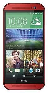 HTC One 2014 (M8) Smartphone débloqué 4G (Ecran: 5 pouces - 16 Go - Android 4.4 KitKat) Rouge