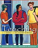 img - for Teaching in the Middle and Secondary Schools (10th Edition) by Jioanna Carjuzaa (2012-05-06) book / textbook / text book
