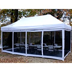 Buy King Canopy EPA1PBS20WH 10-Feet by 20-Feet Bug Screen Room for Explorer Instant... by King Canopy
