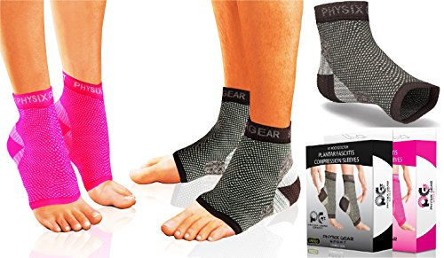 Plantar Fasciitis Socks with Arch Support - Foot Care Compression Sleeve Eases Swelling & Heel Spurs - Better than Night Splint Ankle Brace Support, Increases Circulation (Black L/XL) (Shoe Inserts For Heal Pain compare prices)