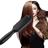 Hair Straightener, YOPO Hair Straightener Brush Straightening Hair Comb(Black)