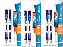 Paper Mate Clear Tip 0.7mm Mechanical Pencil Starter Set, Colors May Vary (56047PP)- 3 Pack