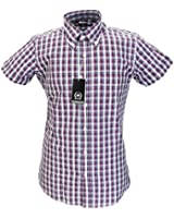 Lots of Colours RETRO 100% Cotton Classic Vintage Mod Button Down Short Sleeve Shirts FREE POSTAGE Sizes S-3XL