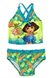 Nickelodeon Girls' Dora 2 Piece Tankini Suit Swimsuit