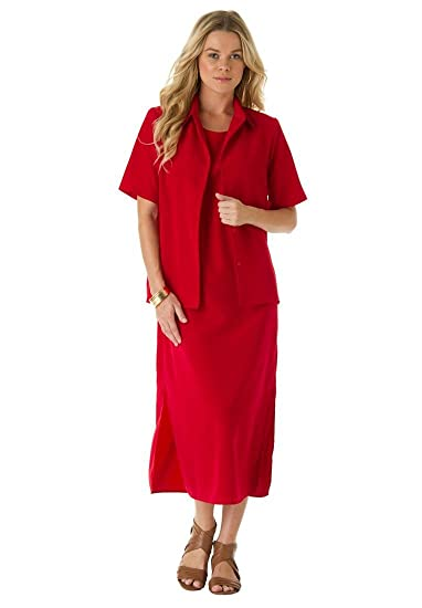Fall Dresses With Jackets For Women Roamans Women s Plus Size