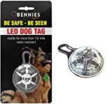 White led dog collar tag light, Bennies World, LED Clip-On dog collar lights. #1 bright led dog tag, 4 colors available