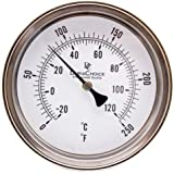 "Industrial Thermometer 3"" Face S.S. Case w/Calibration"