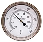 "Thermometer- 3"" Dial with 6"" Stainles..."